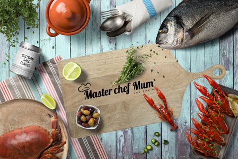 "Personalised Chopping Platter Board ""Masterchef"""