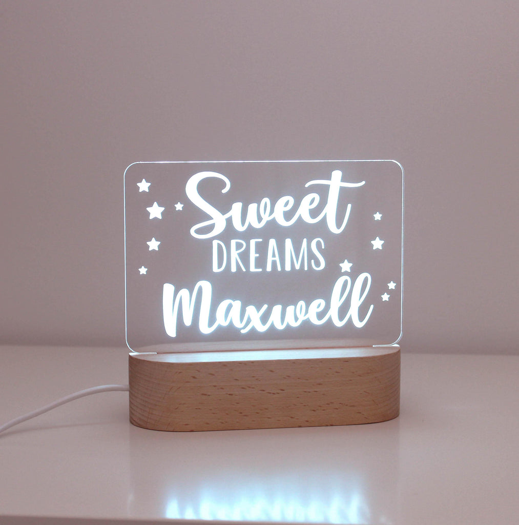 Sweet Dreams Personalised Night Light