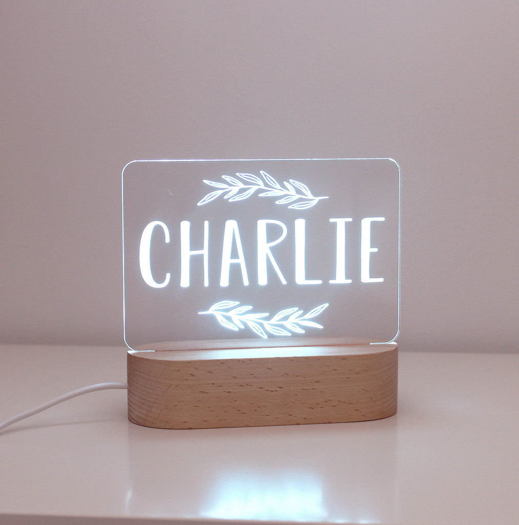 Leaves Personalised Night Light