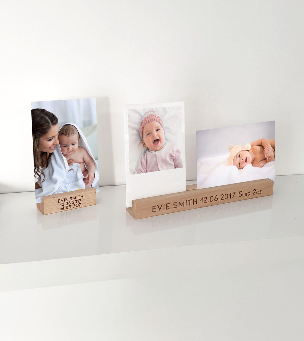 Timber Personalised Photo Block