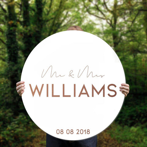 Custom Round Wedding Sign
