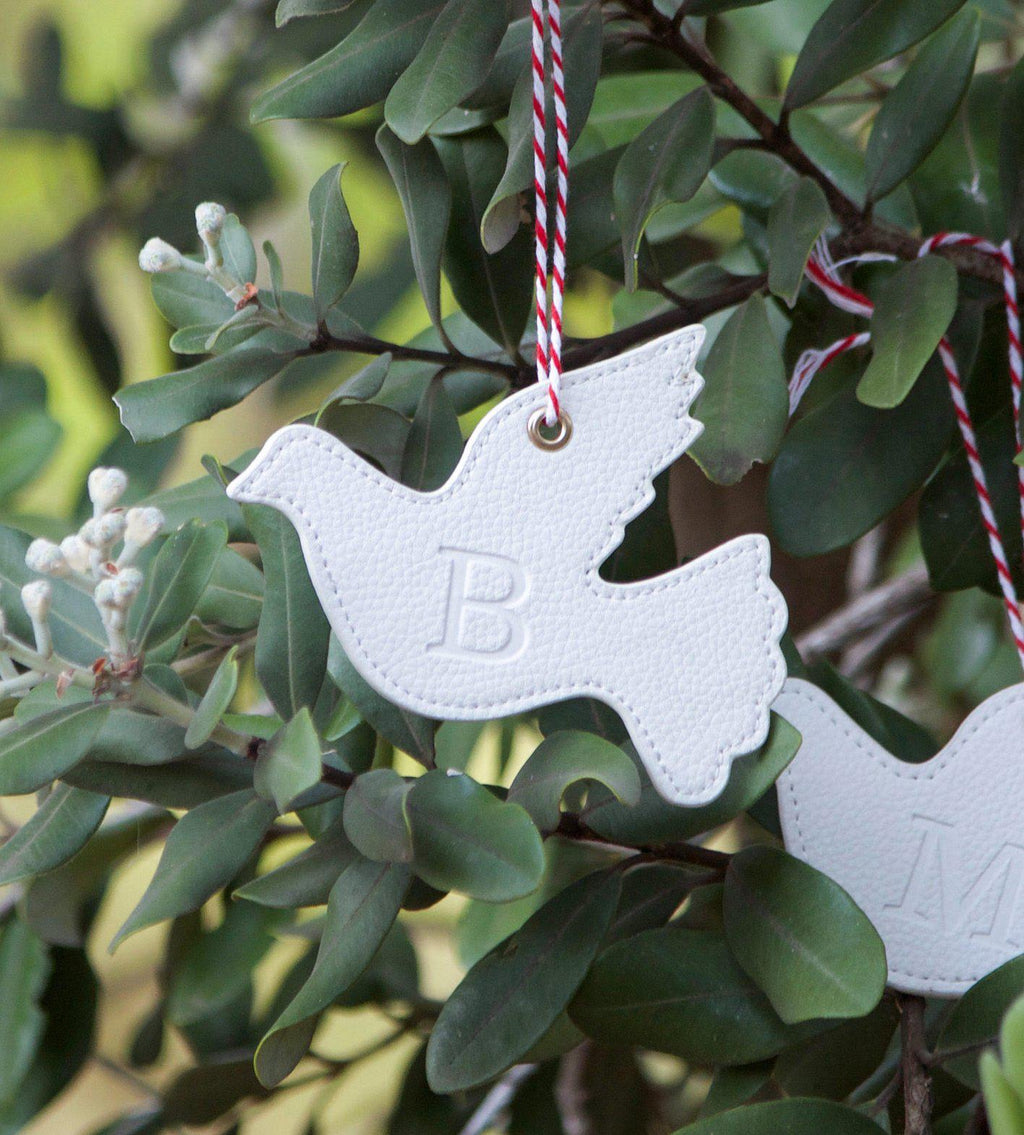 Pair Of Leather Turtle Dove Xmas Decorations Hexi Products
