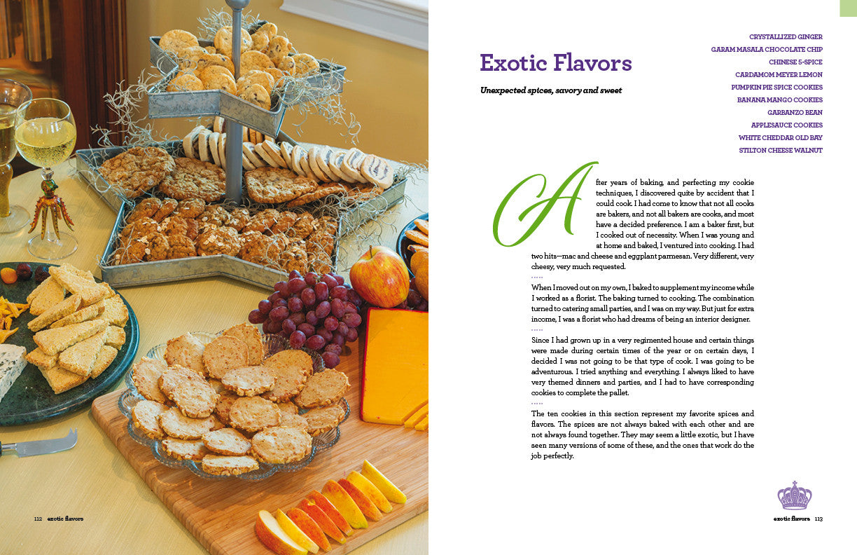 The Cookie King cookbook: Exotic flavors, cookie presentation. Sweet and Savory cookies.