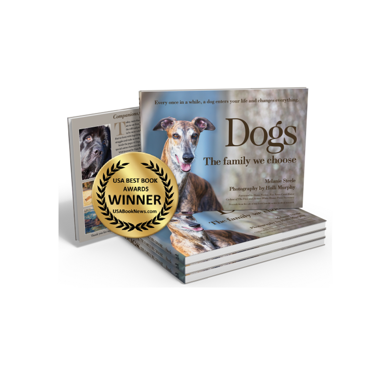 Award winning photography book: Dogs, The Family we choose Melanie Steele and Starbooks