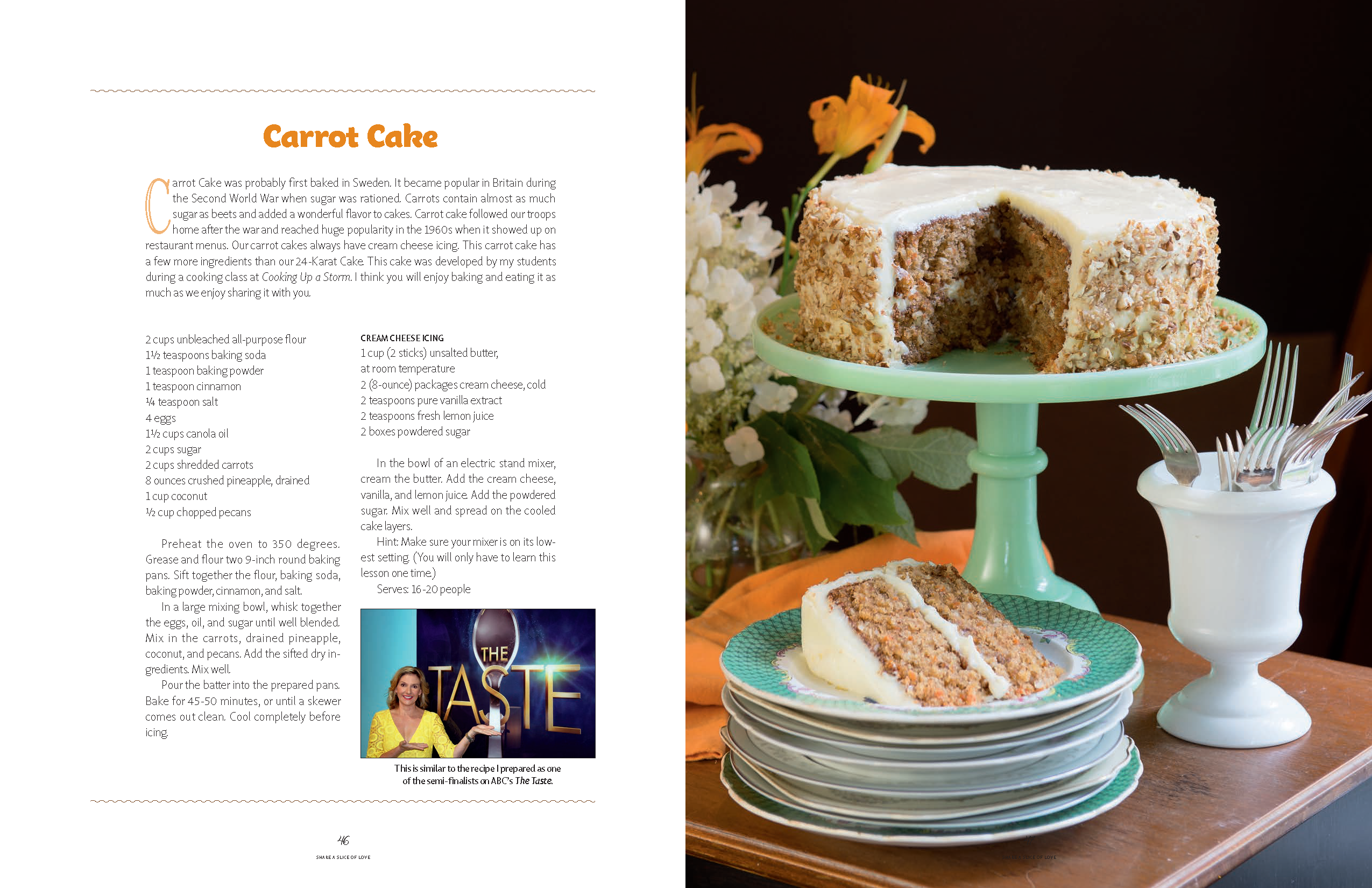 Recipe: Carrot Cake from Daisy Cakes cookbook Starbooks