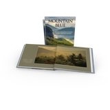 Mountain Blue Photography Book: Graveyard Fields. Trees and clouds seen from Blue Ridge Parkway