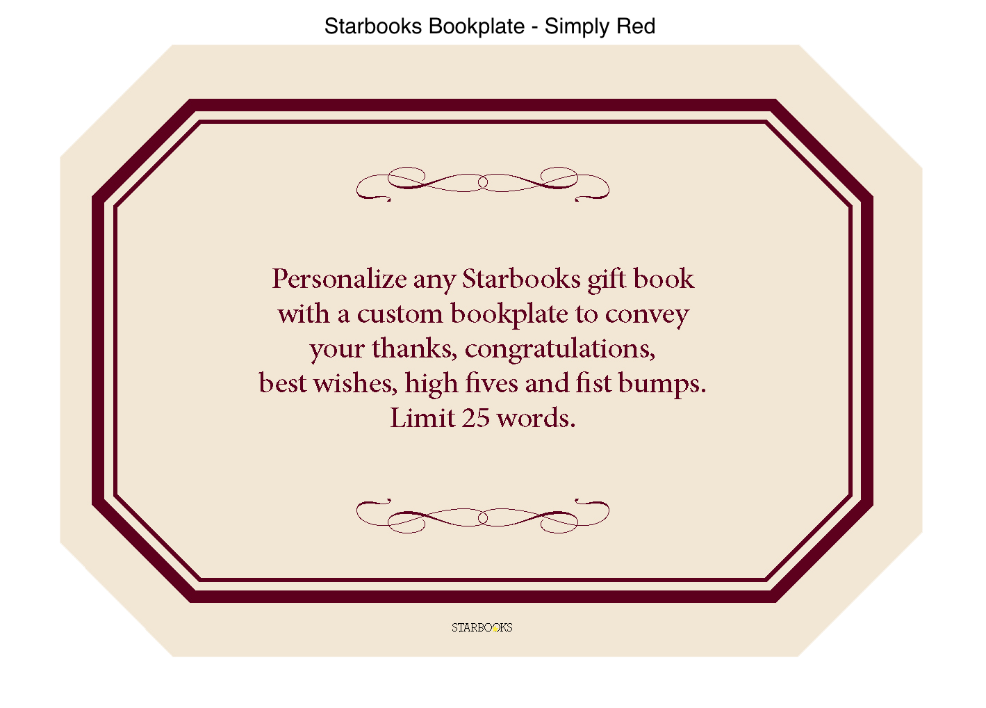 Personalized book plate, add your own message, customize your gift book purchase
