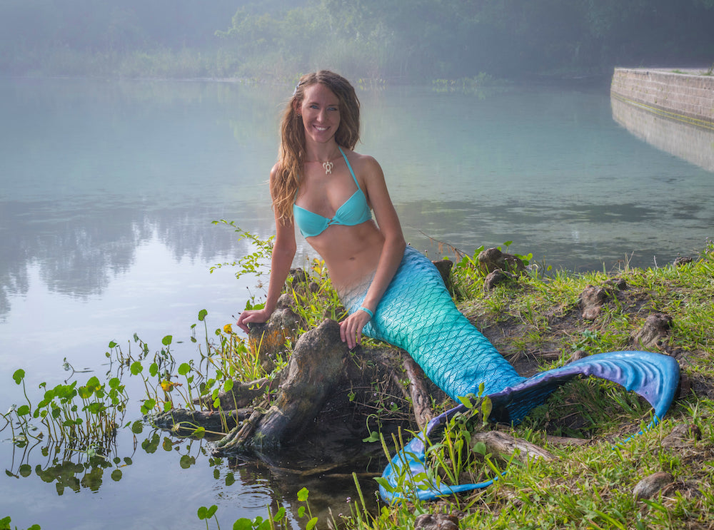 Author Nina Leipold as Mermaid Nina