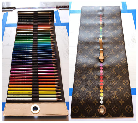 Louis Vuitton Pencil Roll Front Back
