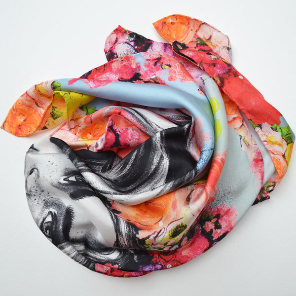Hothouse Flowers Silk Scarf - Pippa McManus