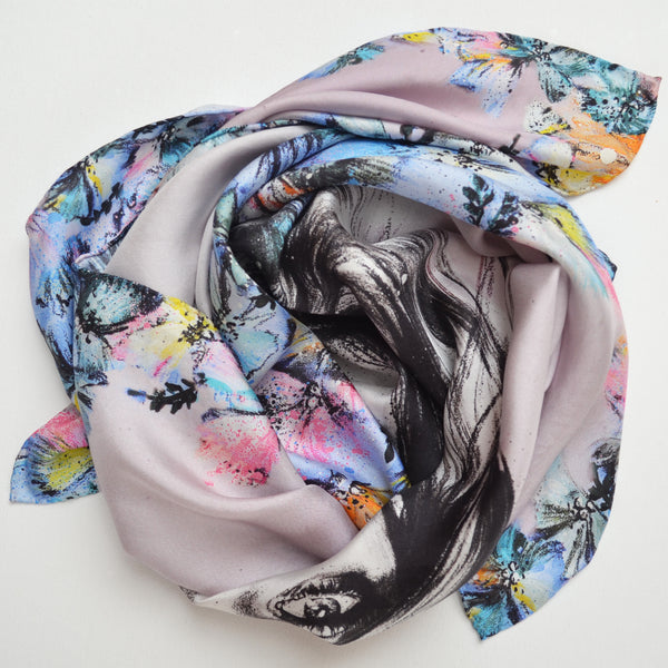 Sable Ballet Silk Scarf