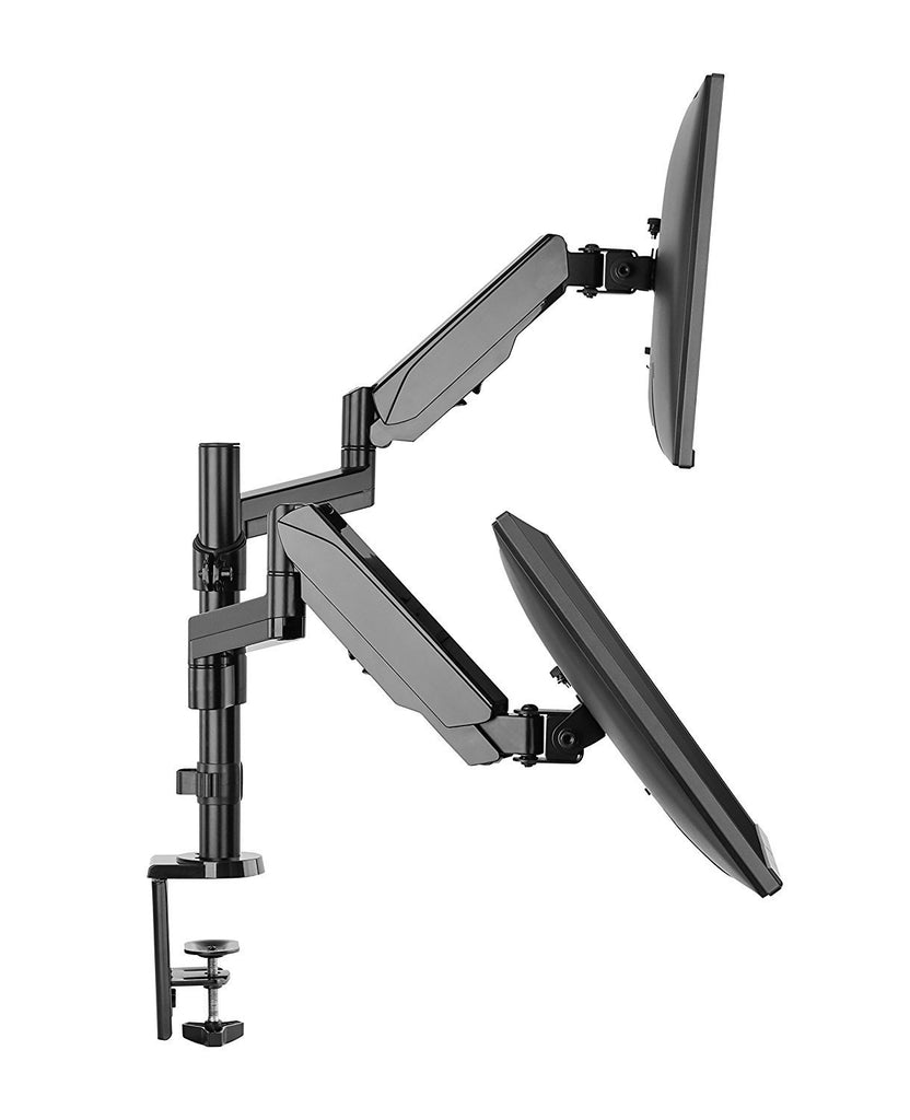 dual height adjustable monitor stand desk mount computer flat screens