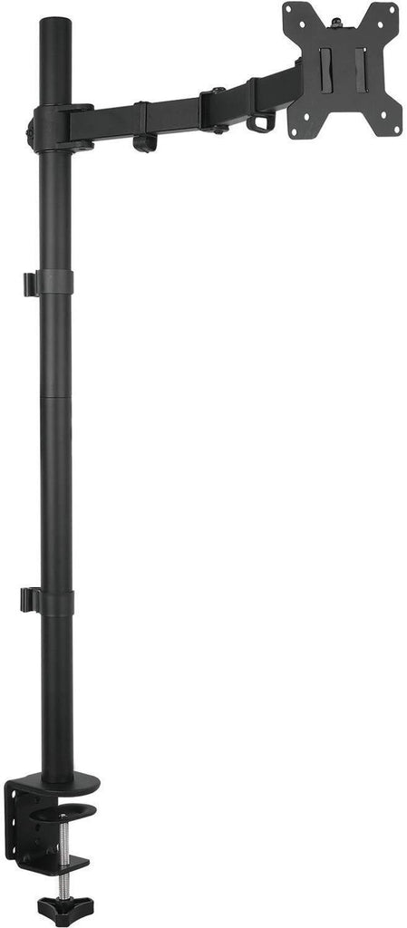 Fully Adjustable Extra Tall Single LCD Monitor Desk Mount, Fits 1 Screen up to 27 inch, Weight up to 10 kg, Black (EC1L)