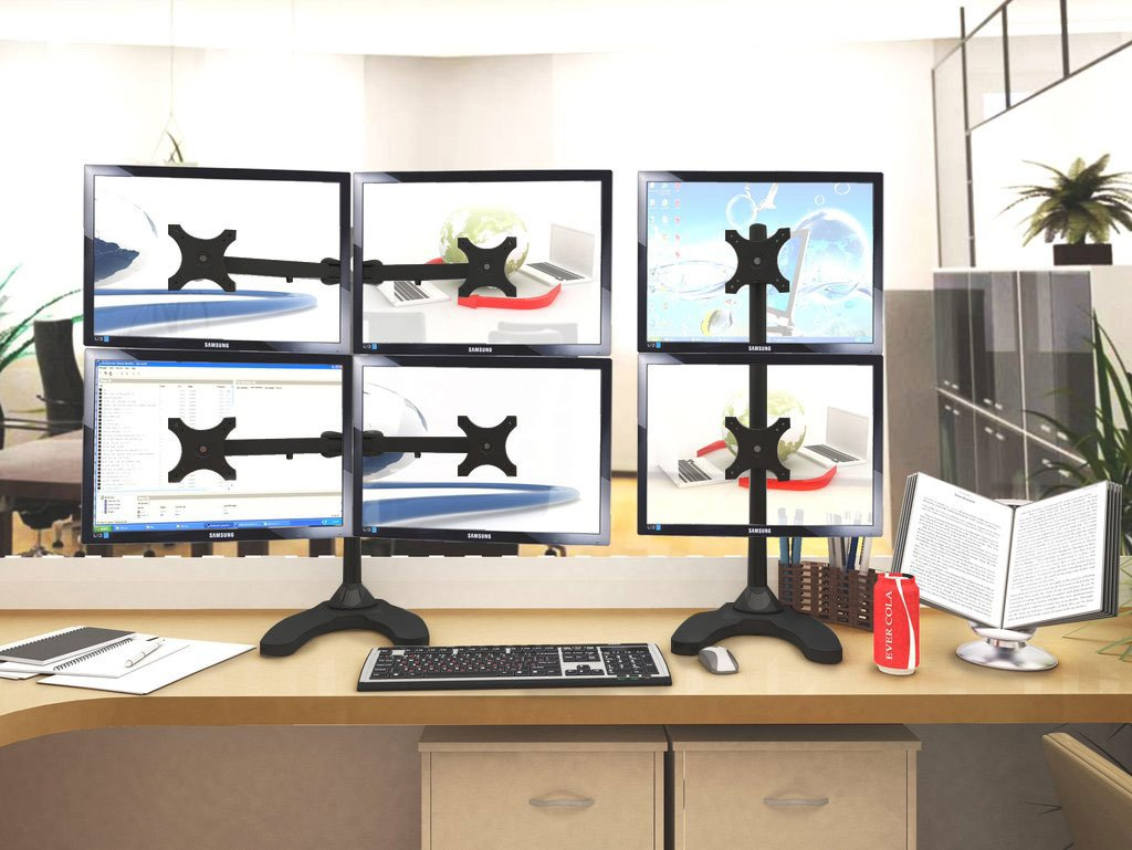 Six Monitor Stand - Freestanding (6MS-FH)