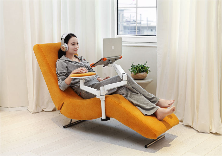 Fine Ergonomic Recliner Chair With Laptop And Tablet Arms Ec04 Ibusinesslaw Wood Chair Design Ideas Ibusinesslaworg