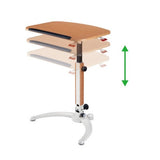 Adjustable  Height by Gas Lift Sit Stand Folding Desk (for laptop or Tablet) LPT-G