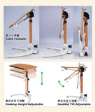 Adjustable  Height by Gas Lift Folding Desk