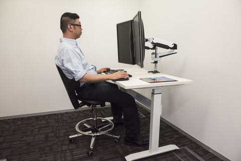 Dual Gas Spring Enabled Monitor Stand / Arm 2MS-G