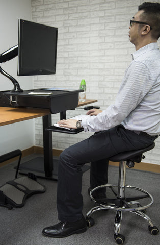 Ergo Sit-Stand Seat / Stool (with seat tilting)