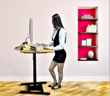 Single Leg Height Adjustable Electric Desk with 80 by 60 cm Top, (DSM)