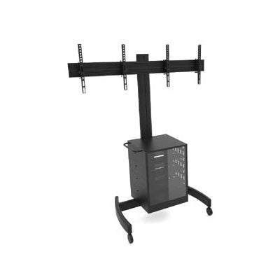 Dual TV Cart With Cabinet