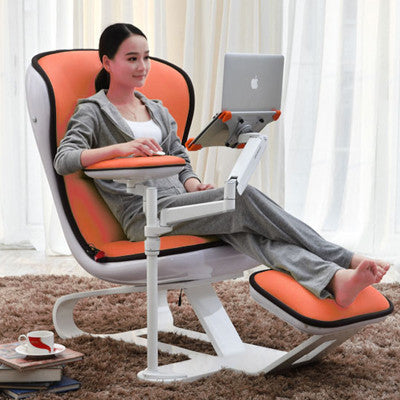 Ergonomic Chair Com Recliner Wth Laptop Tablet Arms