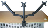 Triple Monitor Desk Mount Arm/Stand, Height Adjustable Gas Spring Arms, Fits 19, 20, 24 inch Screens 3MSG