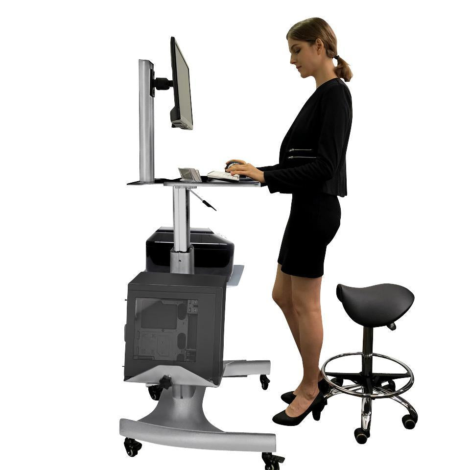 Sit Stand Workstation by Gas Lift GMCT09