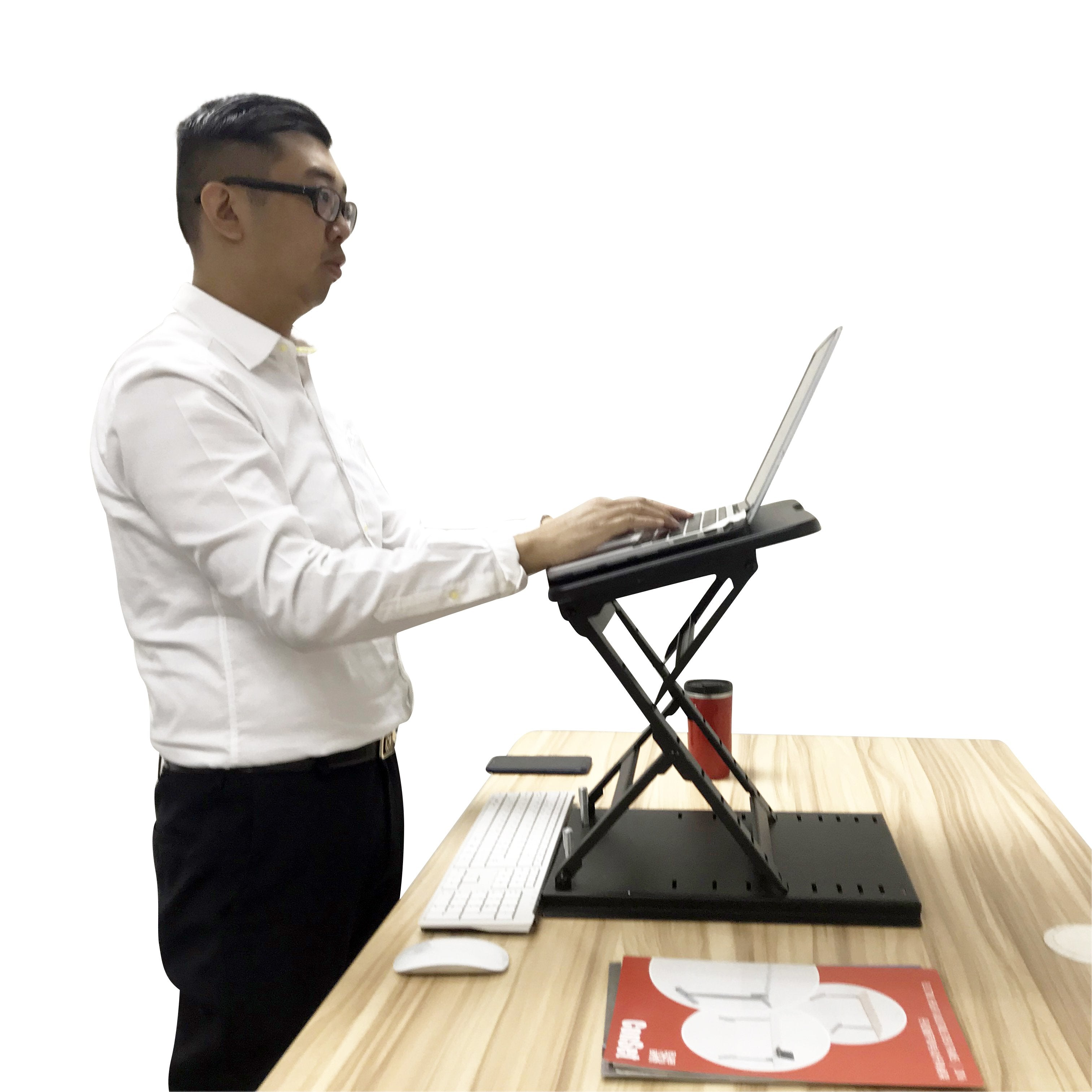 Ergonomic Design Multi Level Height Adjustable Laptop Stand Sit Stand Display Stands India