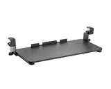 Clamp-On Adjustable Keyboard Tray, Under Desk Keyboard Tray, Improve Comfort Increasing Usable Desk Space, Black (KBD-C)