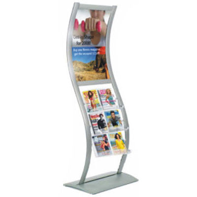 Literature Stand with poster frame LS-P01