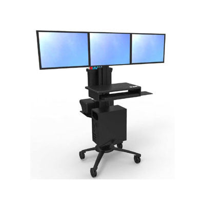 Triple Monitor Cart