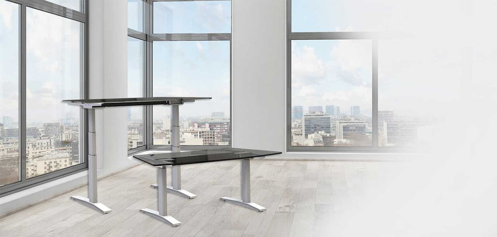 Electric 2 leg Table Standing desk with Memory (with OKIN German Motor)