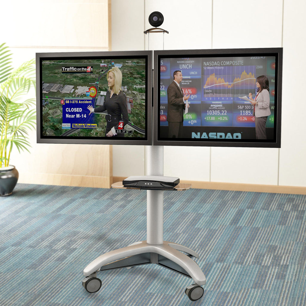 Dual TV Video Conference Cart (DTVC01)