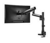 Single Monitor Desk Mount Stand, Full Motion Articulated Arm, Swivel Gas Spring Monitor, VESA 75x75mm or 100x100mm Arm Fits for Computer Monitor 17 to 32 inches