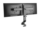 "Dual 17"" - 27"" VESA Height Adjustable Screen Monitor Mount for Standing Desk Converter - Black Model No (2MCT2)"