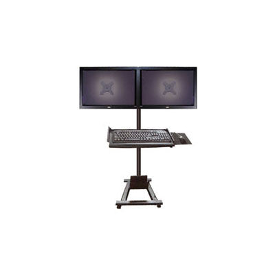 Dual Monitor Computer Trolley