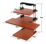 Adjustable Sit to Stand Standing Desk On Top Of Your Existing Desk (Dual Shelf) SSD2