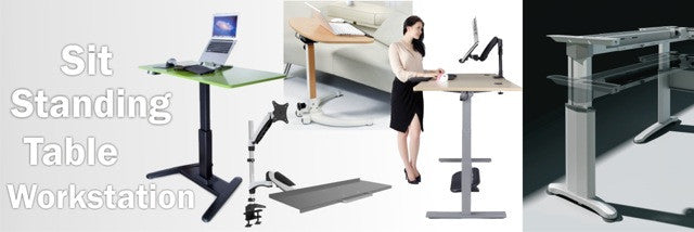 Sit standing table workstation