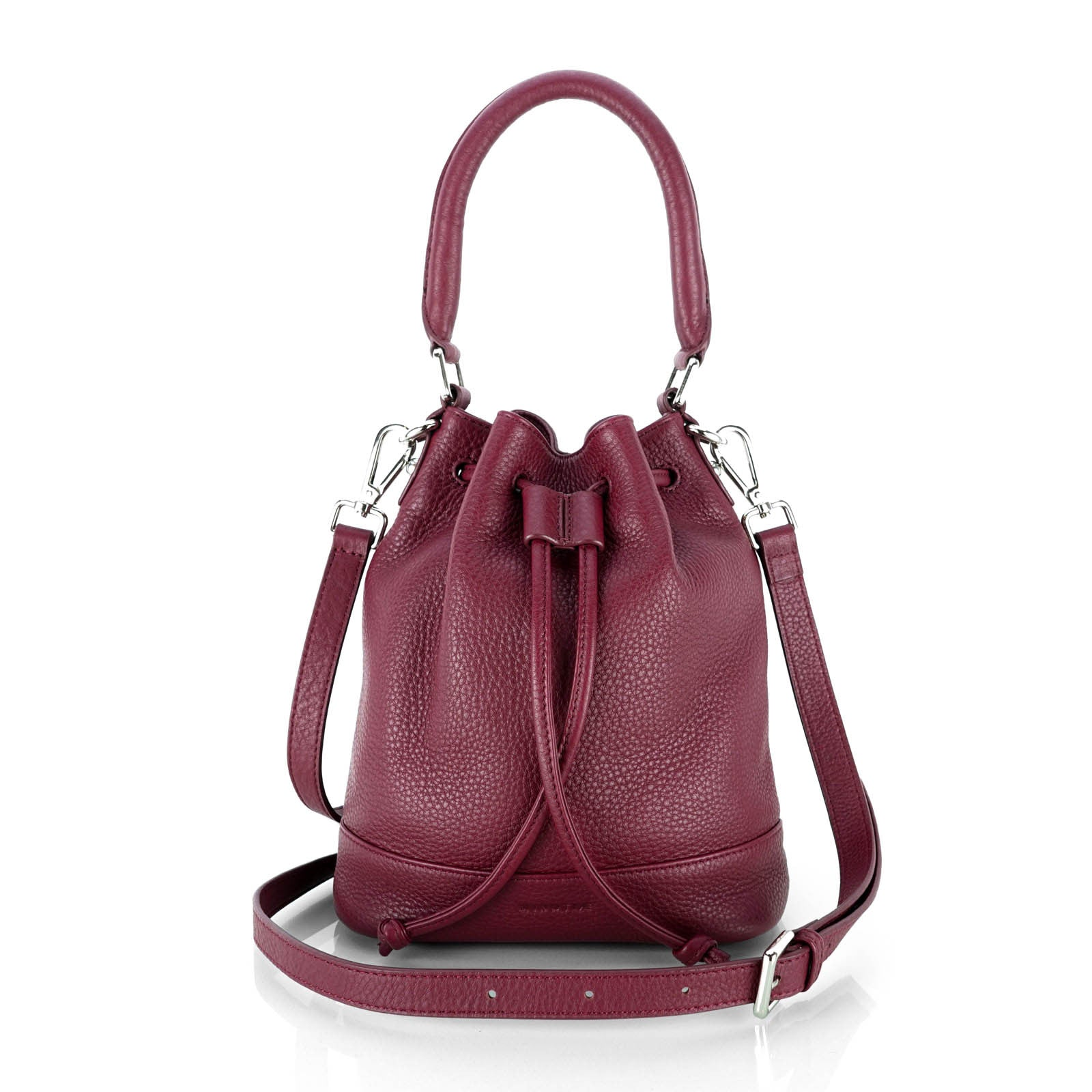 MINUTIAE Bucket Bag in Marsala Full Grain Leather
