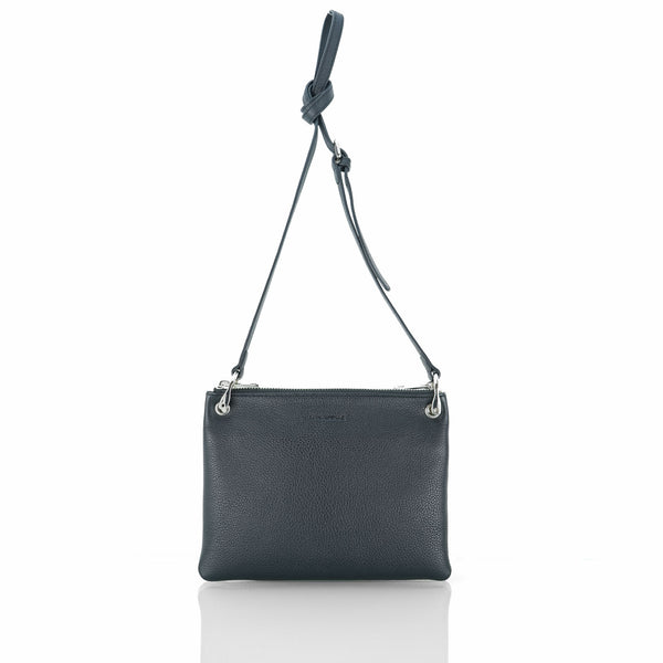 MINUTIAE_Crossbody_Bag_Black_Leather_Australian_Front