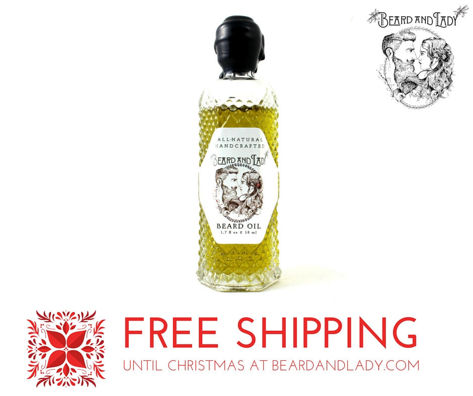 Free Shipping Until Christmas with USPS on all Beard and Lady Products!