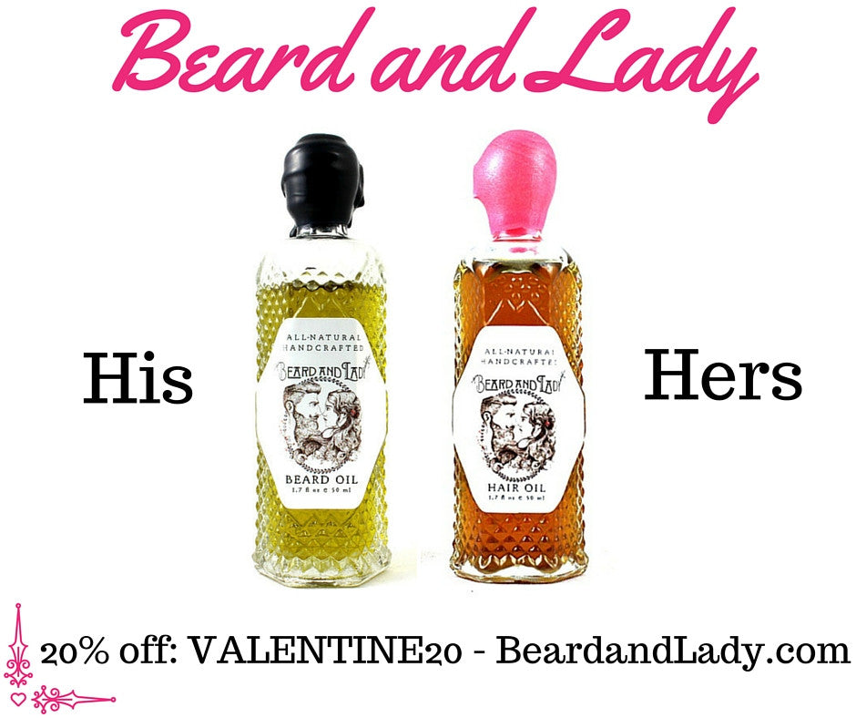 Happy Valentines Day with 20% Off and New Hair Oil Bottle - HIS and HERS
