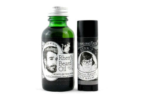 Rhett and Link Beard Oil Lip Balm Beard and Lady