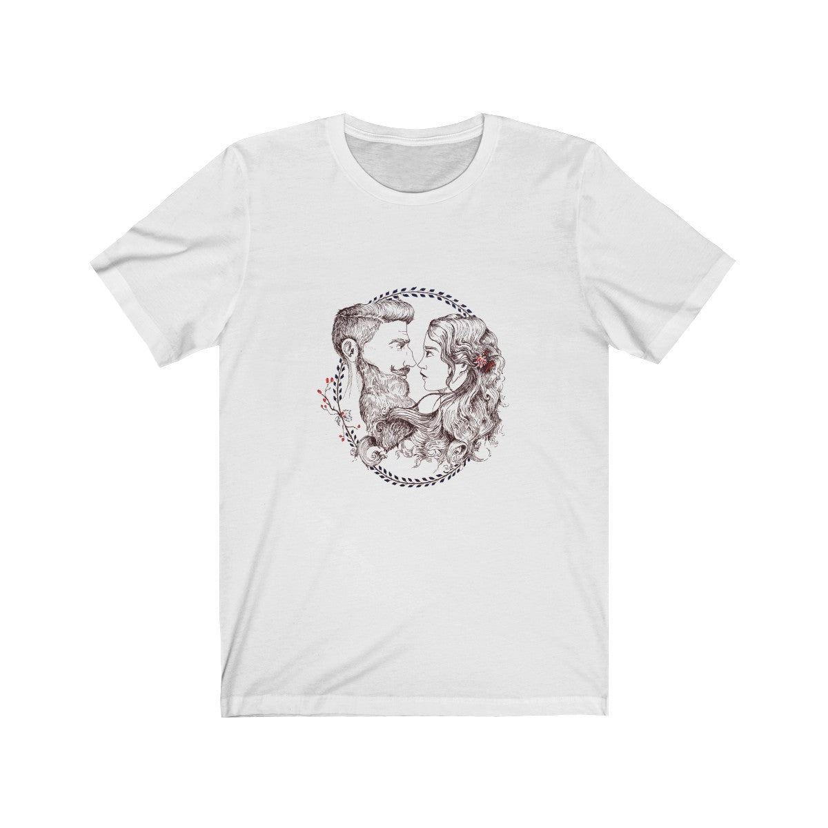 Unisex Jersey Short Sleeve Tee - Beard and Lady