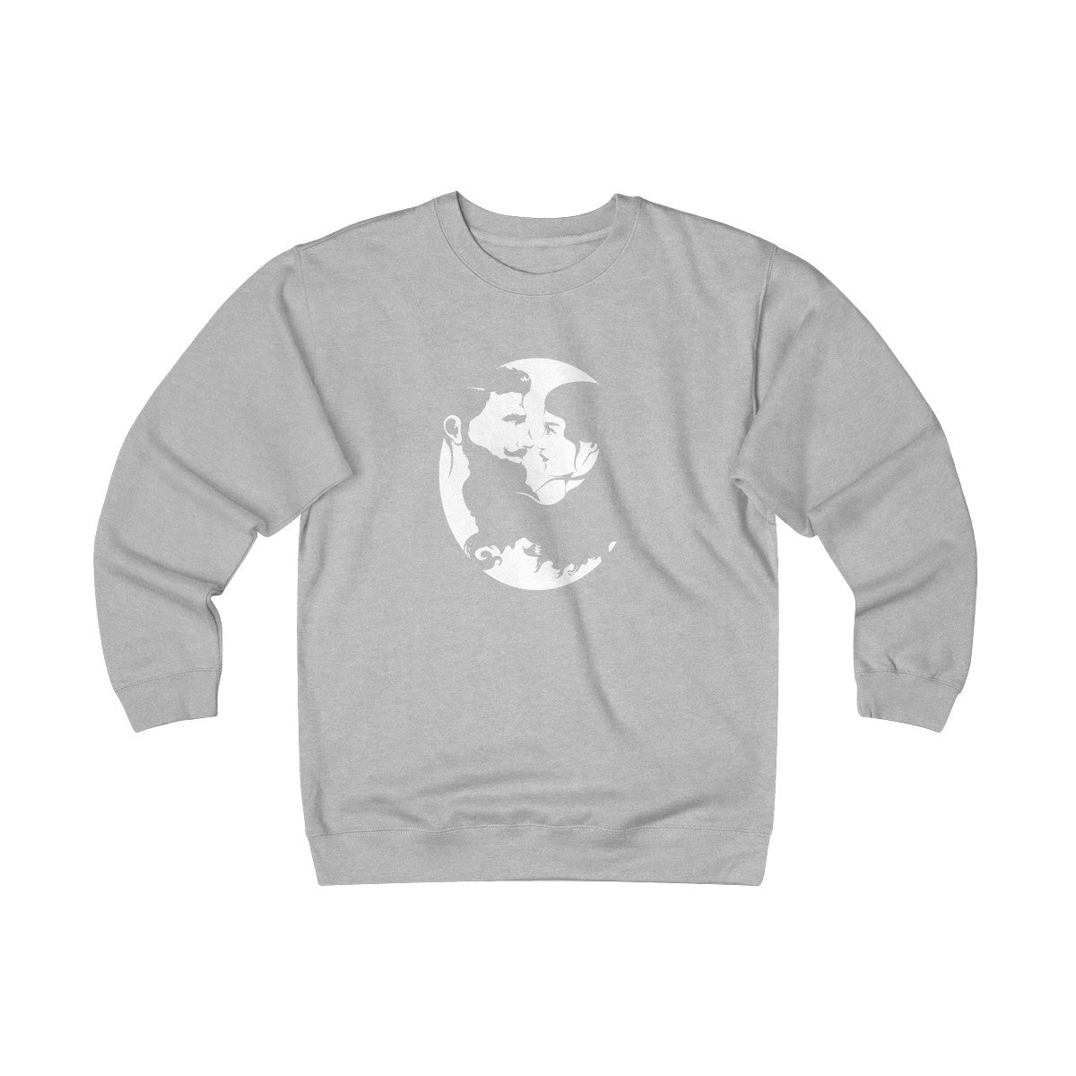 Unisex Heavyweight Fleece Crew - White Logo - Beard and Lady