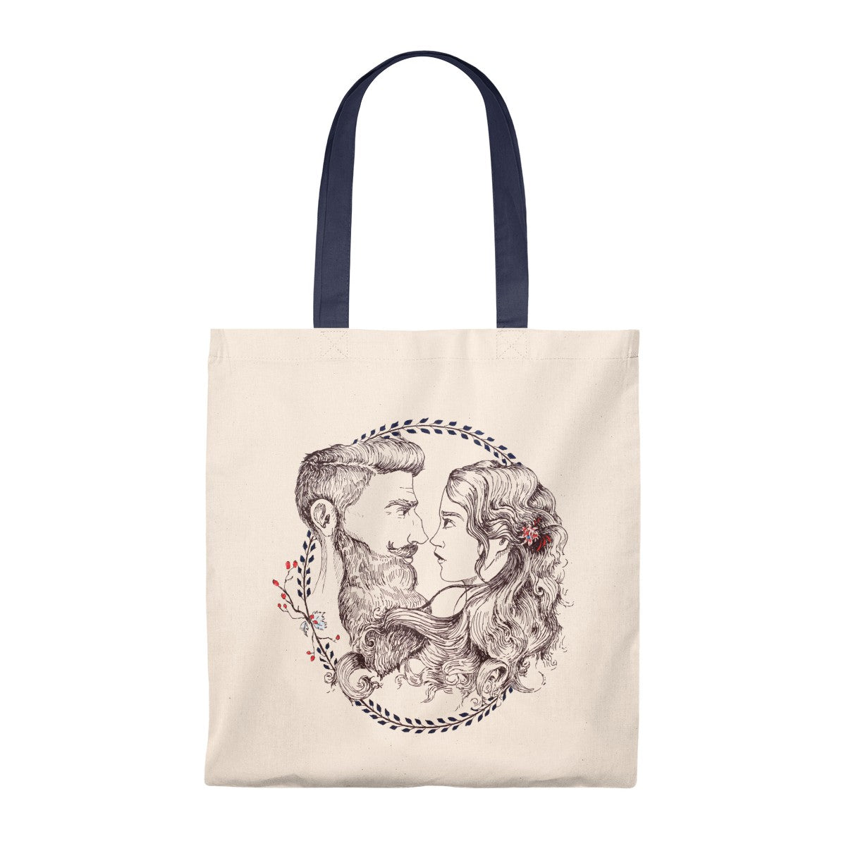 Vintage Tote Bag - Beard and Lady