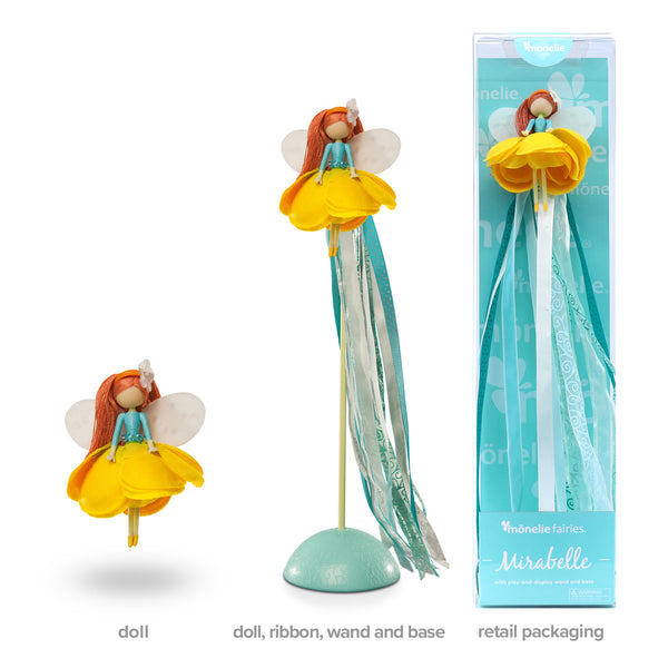 Mirabelle - Doll, Ribbon Wand and Stand