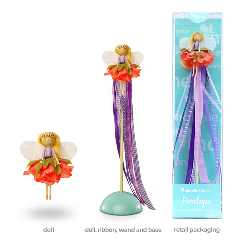 Penelope - Doll, Ribbon Wand and Stand