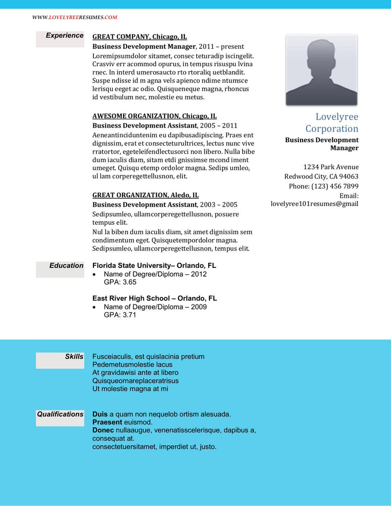 CLASSIC Great Experience Executive Resume WITH COVER LETTER!